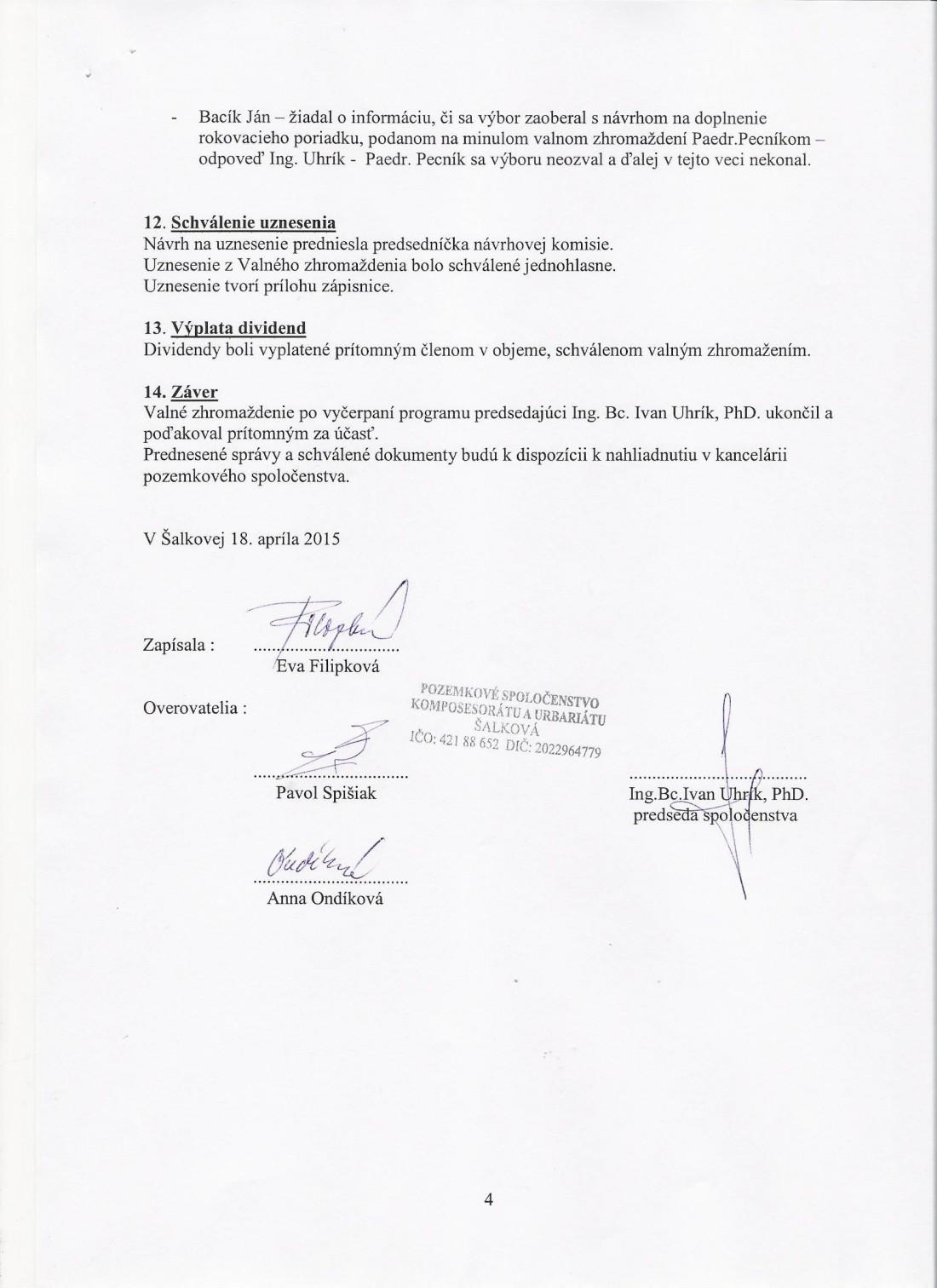 Zápisnica z VZ 18.4.2015 strana č. 4