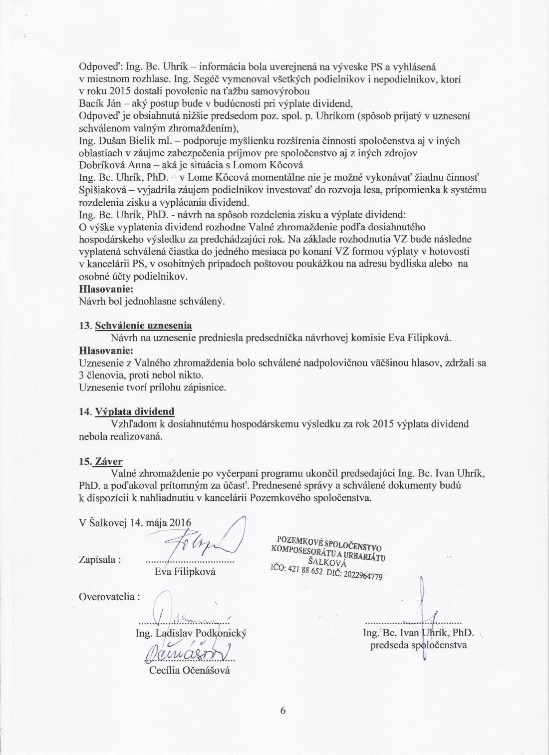 Zápisnica z VZ 14.5.2016 strana č.6