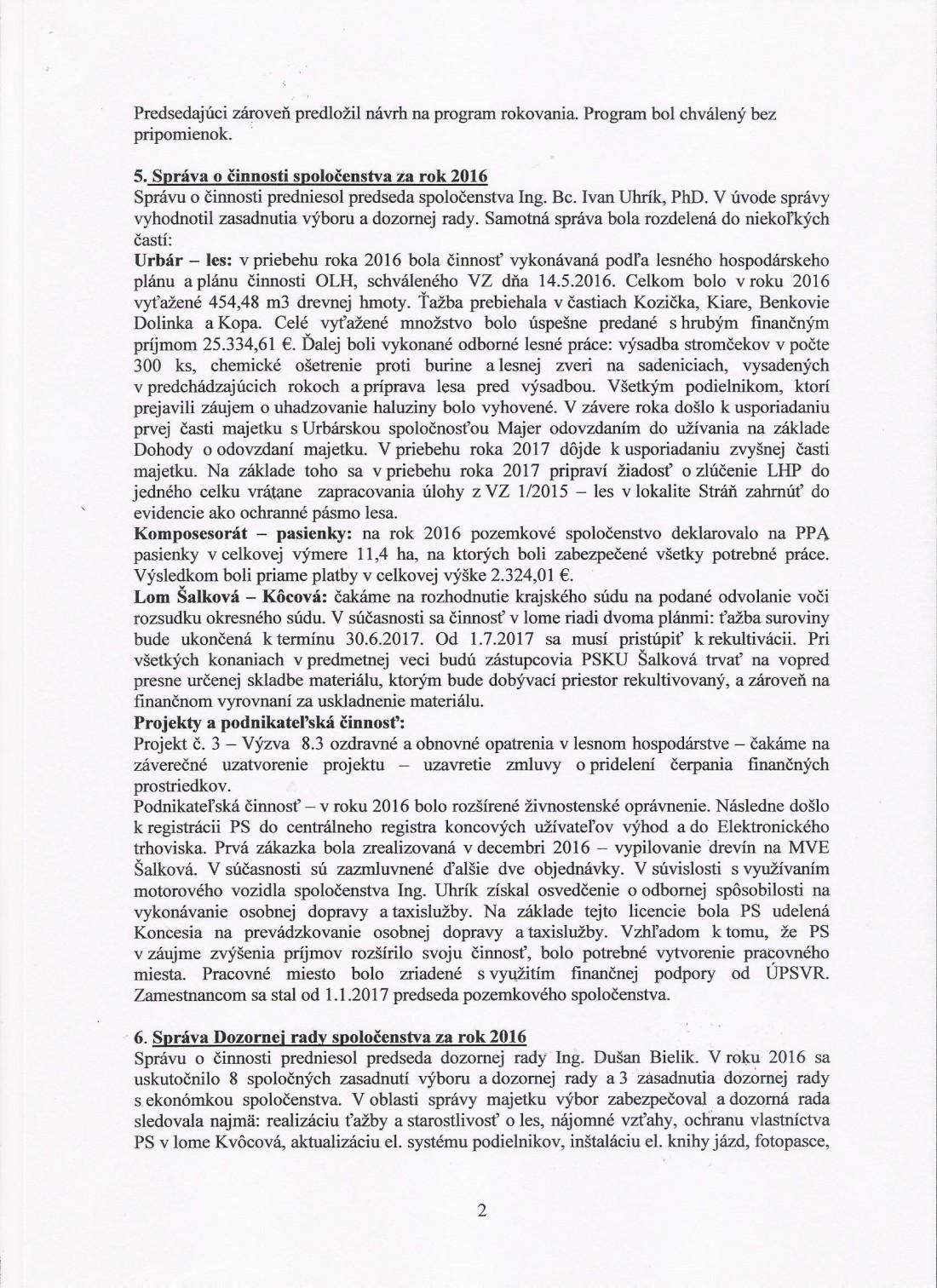 Zápisnica z VZ 6.5. 2017 - strana č. 2