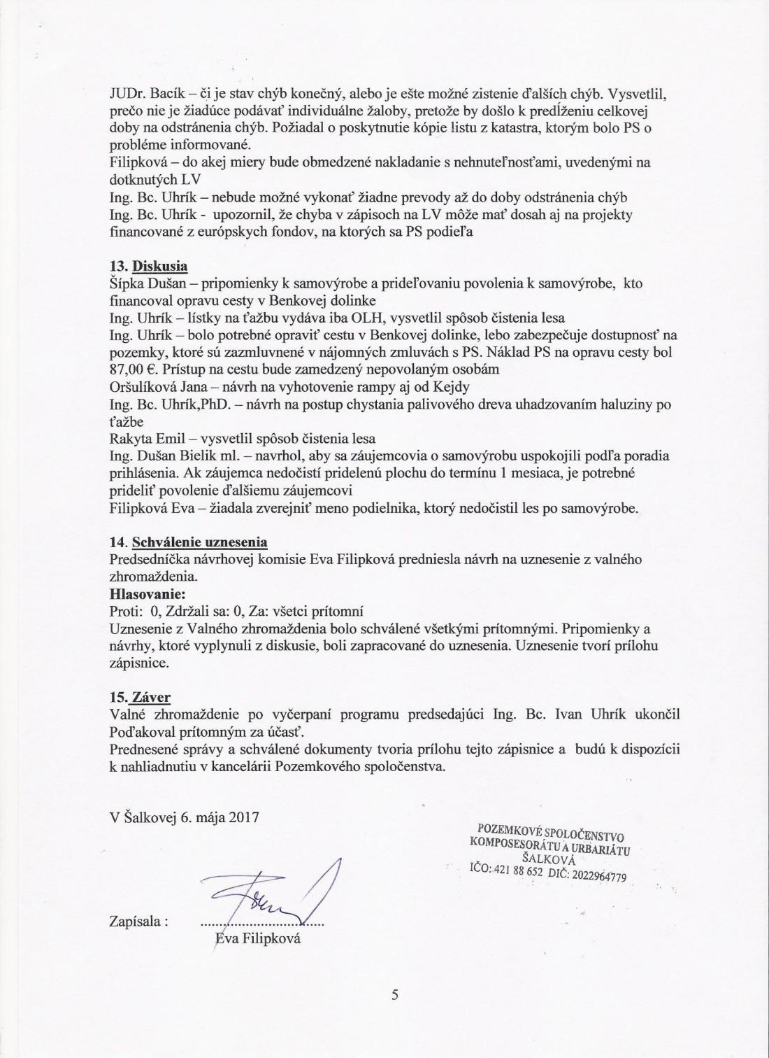 Zápisnica z VZ 6.5. 2017 - strana č. 5