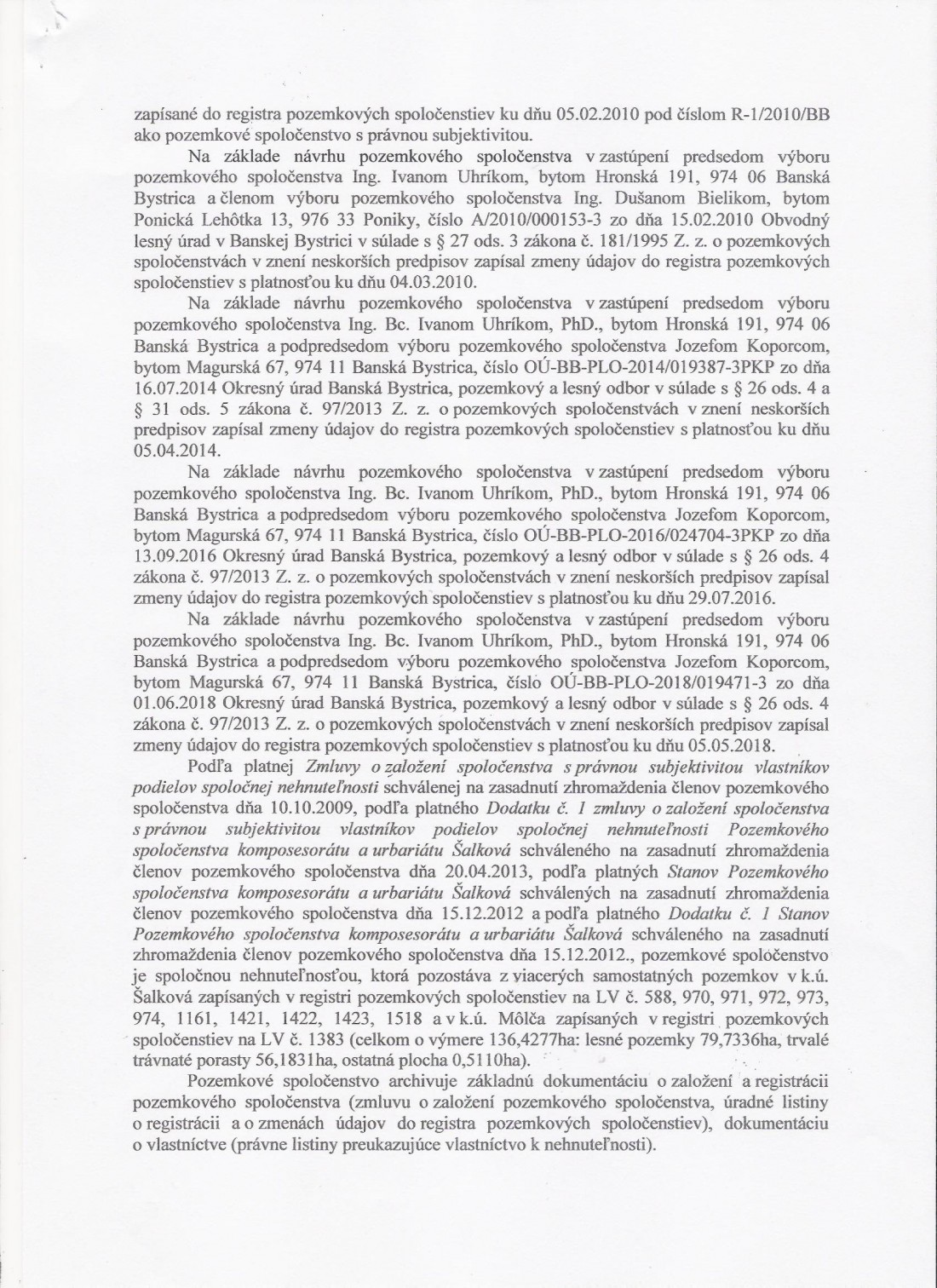 OÚ BB Pozemkový a lesný odbor Záznam o vykonaní kontroly strana 2