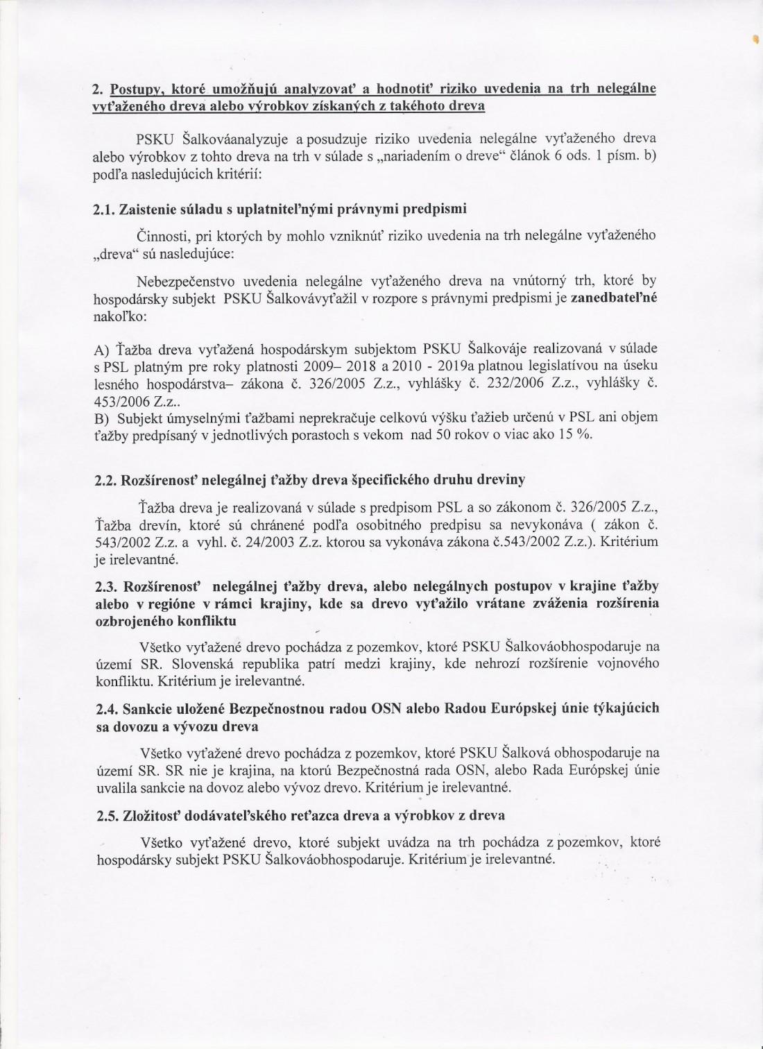 Systém náležitej starostlivosti o les - strana č. 3